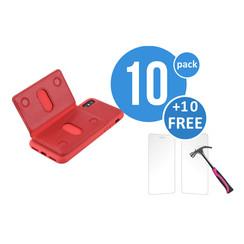 10 x Backcover voor Apple iPhone X - Rood - van UNIQ Accessory (+10 x Free Screenprotectors! 8719273291238)