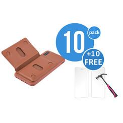 10 x Backcover voor Apple iPhone Xs Max - Bruin - van UNIQ Accessory (+10 x Free Screenprotectors! 8719273291252)