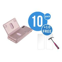 10 x Backcover voor Apple iPhone Xs Max - Roze - van UNIQ Accessory (+10 x Free Screenprotectors! 8719273291252)