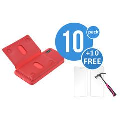 10 x Backcover voor Apple iPhone Xs Max - Rood - van UNIQ Accessory (+10 x Free Screenprotectors! 8719273291252)