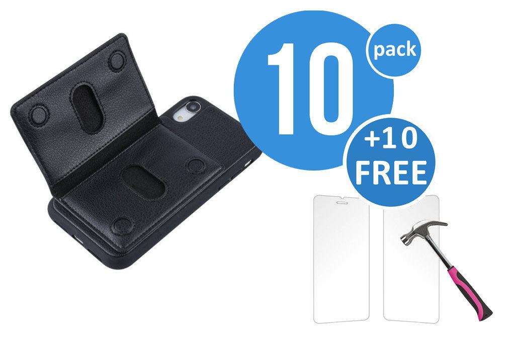 UNIQ Accessory 10 x Backcover voor Apple iPhone XR - Zwart - van UNIQ Accessory (+10 x Free Screenprotectors! 8719273291245)