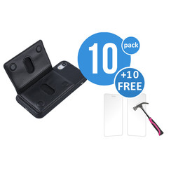 10 x Backcover voor Apple iPhone XR - Zwart - van UNIQ Accessory (+10 x Free Screenprotectors! 8719273291245)