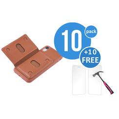 10 x Backcover voor Apple iPhone XR - Bruin - van UNIQ Accessory (+10 x Free Screenprotectors! 8719273291245)