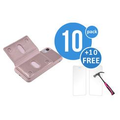 10 x Backcover voor Apple iPhone XR - Roze - van UNIQ Accessory (+10 x Free Screenprotectors! 8719273291245)