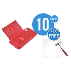 10 x Backcover voor Apple iPhone XR - Rood - van UNIQ Accessory (+10 x Free Screenprotectors! 8719273291245)