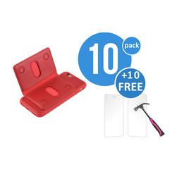 10 x Backcover voor Apple iPhone 6/6S - Rood - van UNIQ Accessory (+10 x Free Screenprotectors! 8719273105412)