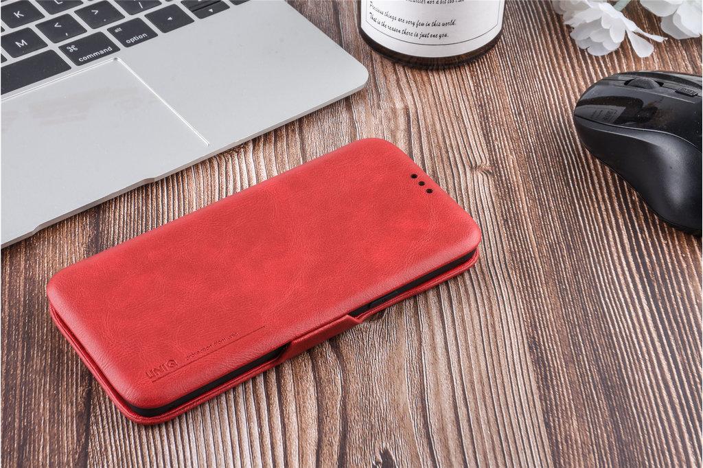 UNIQ Accessory Book Case voor Samsung Galaxy S9  - Rood