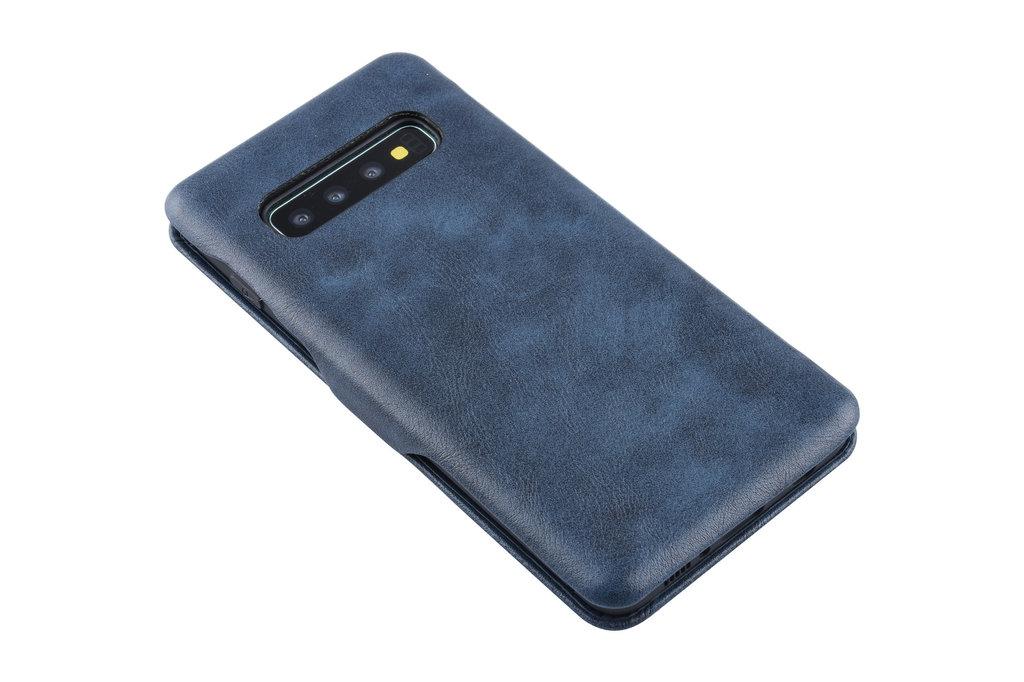 UNIQ Accessory Book Case voor Samsung Galaxy S10+ - Blauw