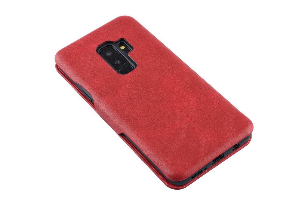UNIQ Accessory Samsung Galaxy S9 Plus Pasjeshouder Rood Booktype hoesje - Magneetsluiting - Kunststof;TPU