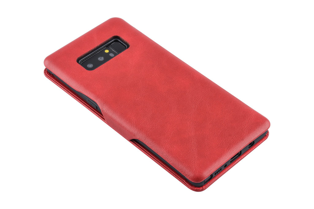 UNIQ Accessory Samsung Galaxy Note8 Pasjeshouder Rood Booktype hoesje - Magneetsluiting - Kunststof;TPU
