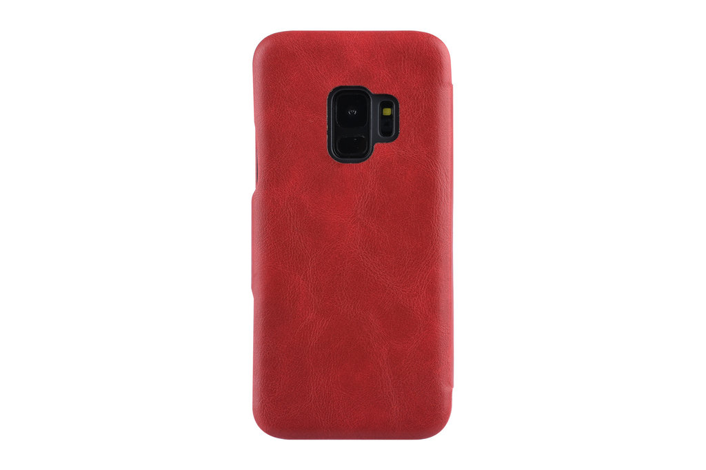 UNIQ Accessory Samsung Galaxy S9  Card holder Red Book type case for Galaxy S9  Magnetic closure