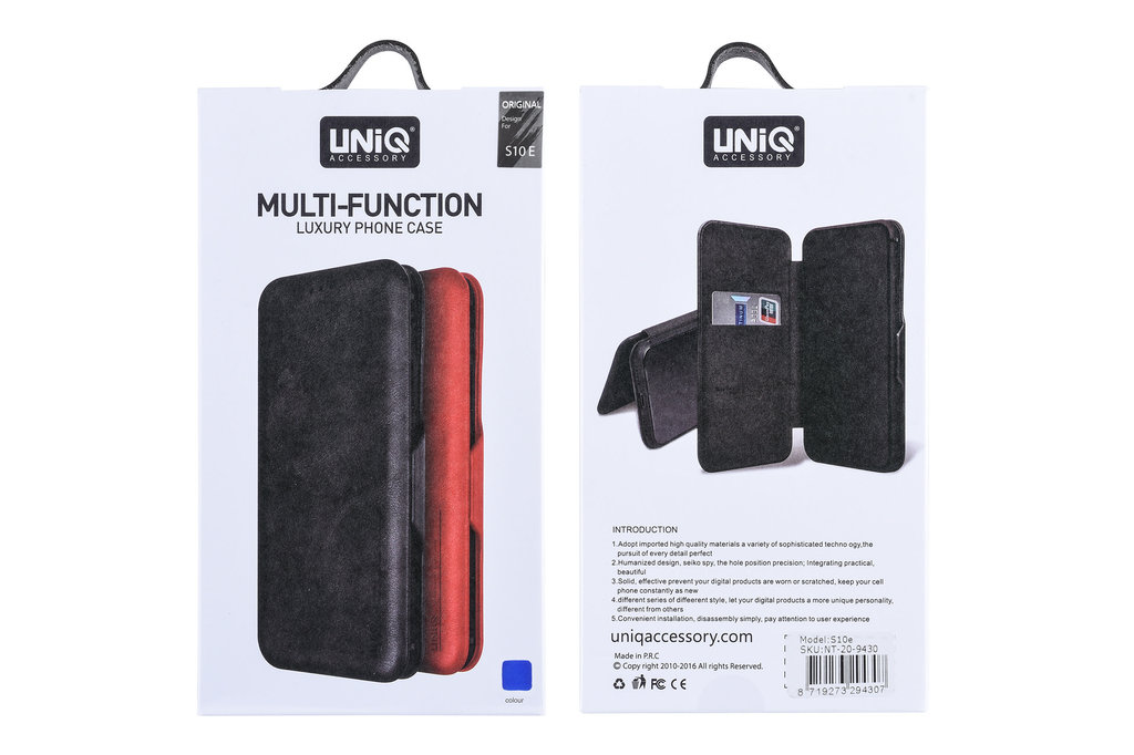 UNIQ Accessory Samsung Galaxy S10e Pasjeshouder Blauw Booktype hoesje - Magneetsluiting - Kunststof;TPU
