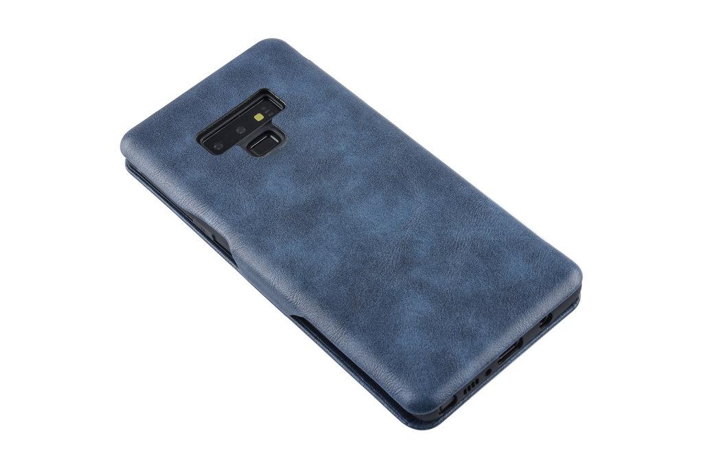 UNIQ Accessory Book Case voor Samsung Galaxy Note 9 - Blauw