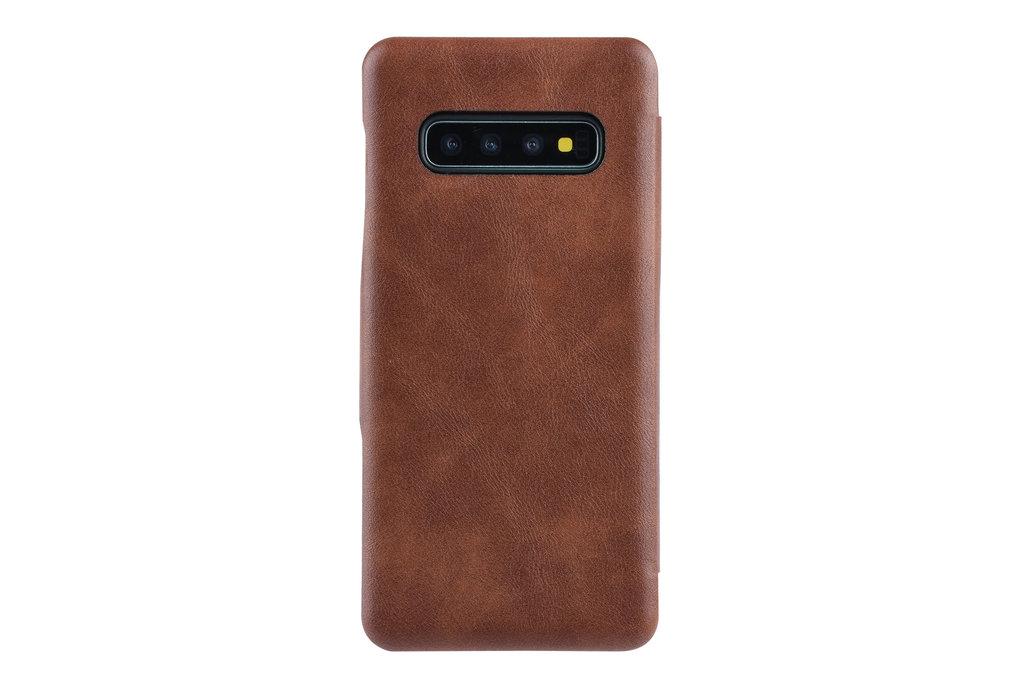 UNIQ Accessory Book Case voor Samsung Galaxy S10+ - Bruin
