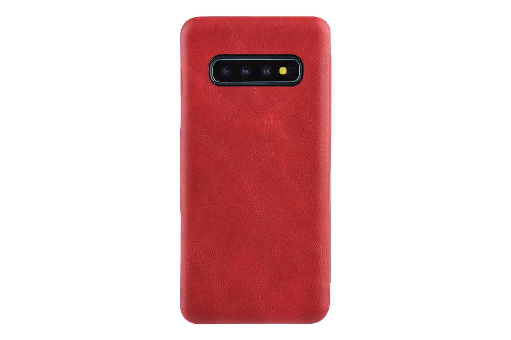 UNIQ Accessory Samsung Galaxy S10+ Pasjeshouder Rood Booktype hoesje - Magneetsluiting - Kunststof;TPU