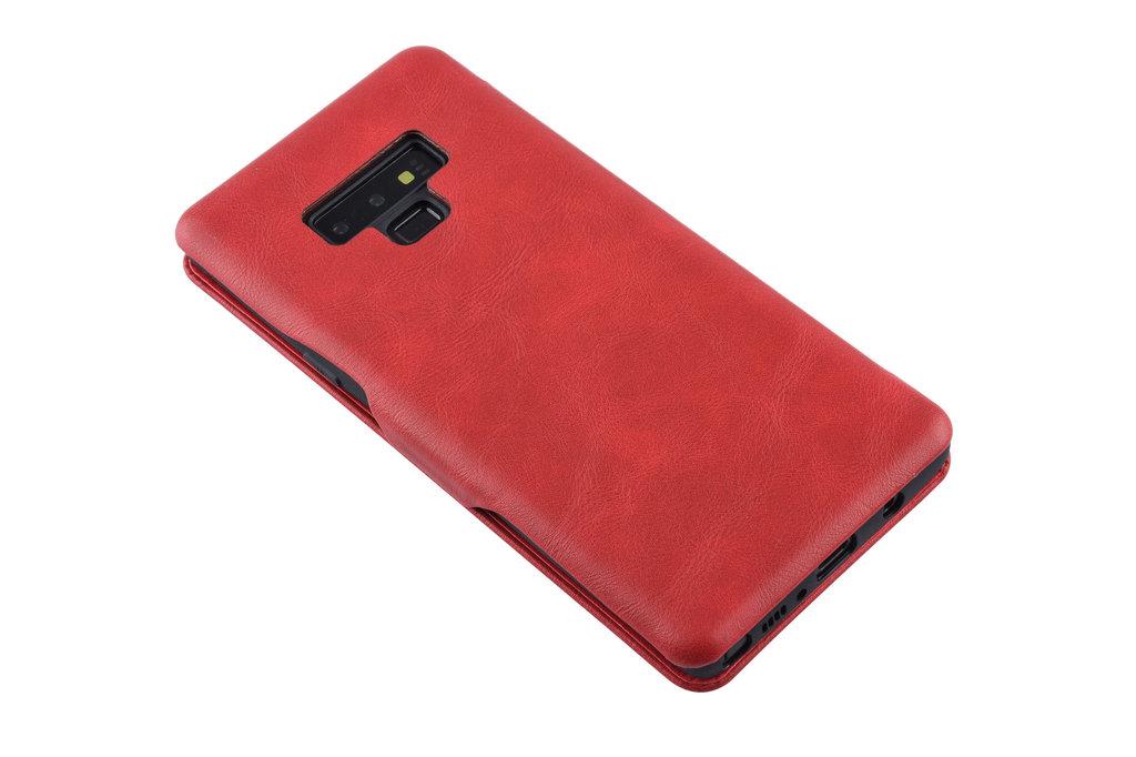 UNIQ Accessory Book Case voor Samsung Galaxy Note 9 - Rood
