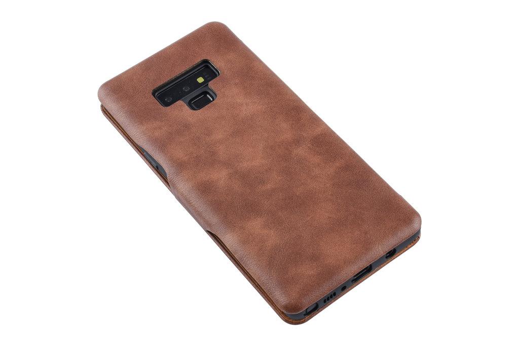 UNIQ Accessory Book Case voor Samsung Galaxy Note 9 - Bruin