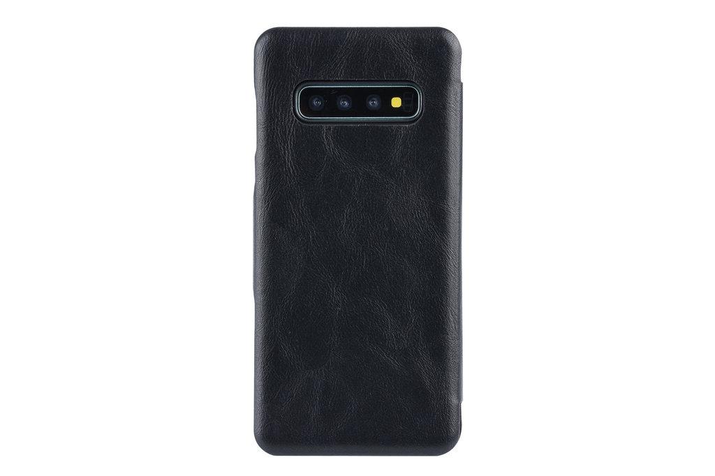 UNIQ Accessory Book Case voor Samsung Galaxy S10+ - Zwart
