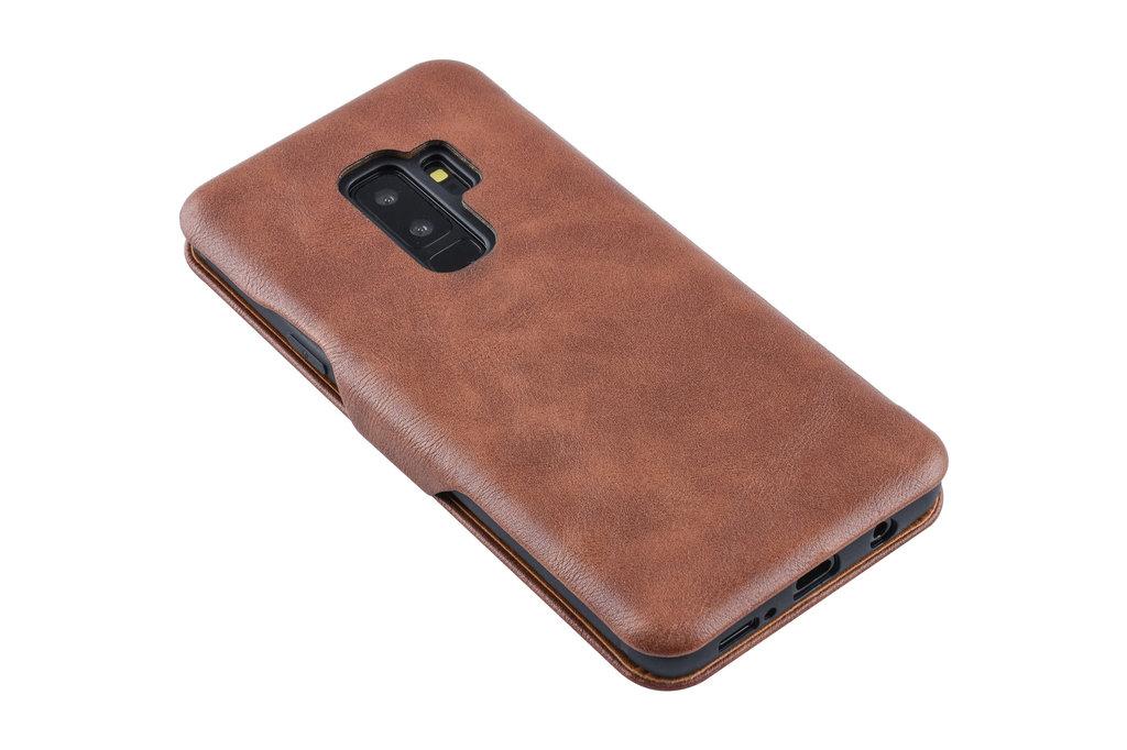 UNIQ Accessory Book Case for Galaxy S9 Plus - Brown