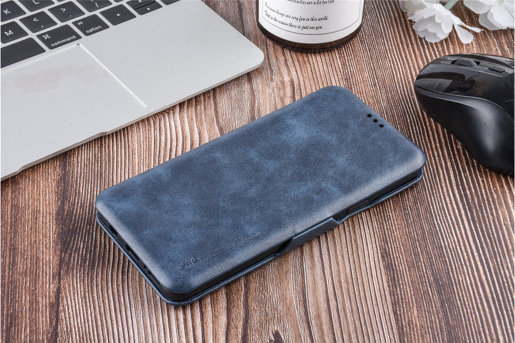 UNIQ Accessory Samsung Galaxy S9 Plus Card holder Blue Book type case for Galaxy S9 Plus Magnetic closure