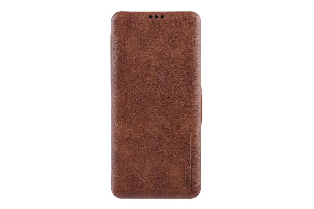 UNIQ Accessory Samsung Galaxy S10+ Card holder Brown Book type case for Galaxy S10+ Magnetic closure