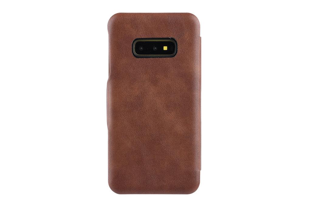 UNIQ Accessory Book Case for Galaxy S10e - Brown