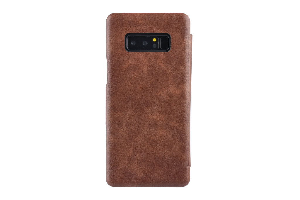 UNIQ Accessory Samsung Galaxy Note8 Card holder Brown Book type case for Galaxy Note8 Magnetic closure