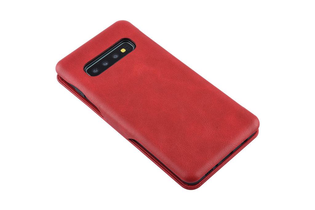 UNIQ Accessory Book Case for Galaxy S10 - Red