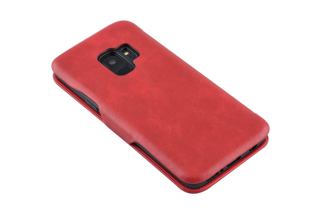 UNIQ Accessory Samsung Galaxy S9  Pasjeshouder Rood Booktype hoesje - Magneetsluiting - Kunststof;TPU