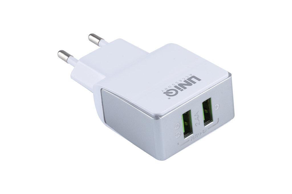 UNIQ Accessory UNIQ Accessory Dual Port 2.1A Travel Charger - Micro USB White (CE)