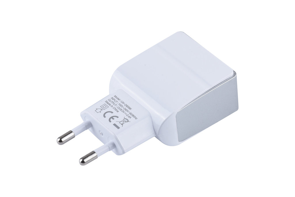 UNIQ Accessory Dual Port 2.1A thuislader van UNIQ Accessory - Micro USB Wit (CE)