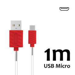 Micro USB Kabel 1m UNIQ Accessory 2.1A Wit (8719273250549 )