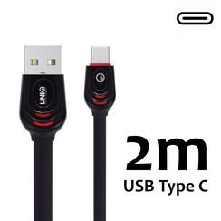 Type-C Kabel UNIQ Accesory Fast charging/data transfer 2M - Zwart