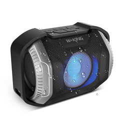 W-KING S8 Waterproof LED Bluetooth speaker - bike speaker - Zilver