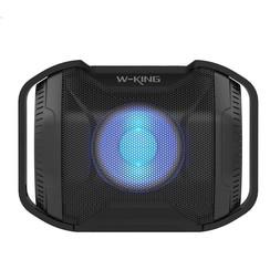 W-KING S8 Waterproof LED Bluetooth speaker - Zwart