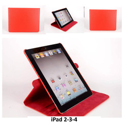 Apple Rood Book Case Tablet voor iPad 2-3-4
