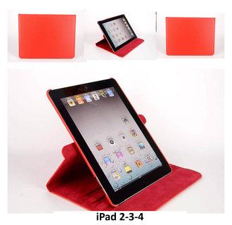 Apple Rood Book Case Tablet voor iPad 2-3-4