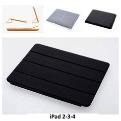Apple Black Book Case Tablet for iPad 2-3-4