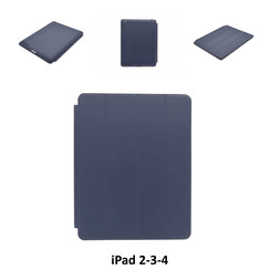 Apple D Blauw Book Case Tablet voor iPad 2-3-4