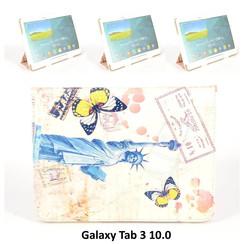Samsung Print Book Case Tablet for Galaxy Tab 3 10.0