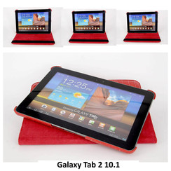 Samsung Red Book Case Tablet for Galaxy Tab 2 10.1