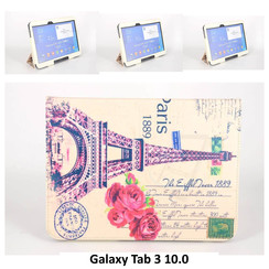 Samsung Print Book Case Tablet for Galaxy Tab 3 10.0