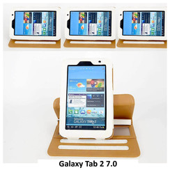 Samsung White Book Case Tablet for Galaxy Tab 2 7.0