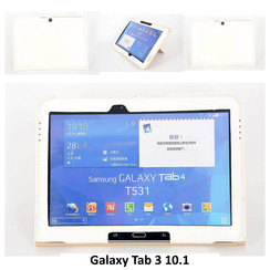 Samsung Tablet Housse Blanc pour Galaxy Tab 3 10.1