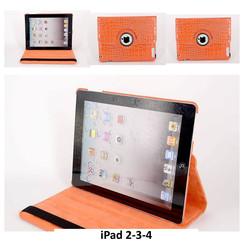 Apple Orange Book Case Tablet for iPad 2-3-4