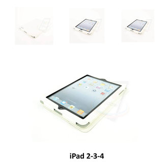 Apple Wit Book Case Tablet voor iPad 2-3-4