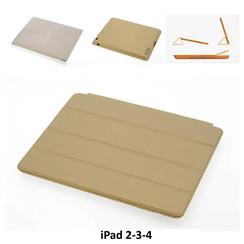 Apple Goud Smart Book Case Tablet voor iPad 2-3-4