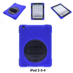 Apple Blue Back Cover Tablet for iPad 2-3-4