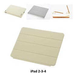 Apple Beige Book Case Tablet voor iPad 2-3-4
