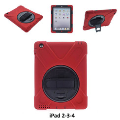 Apple Red Back Cover Tablet for iPad 2-3-4